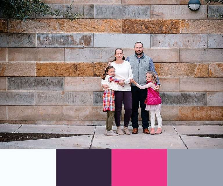 Fall family pictures with pink